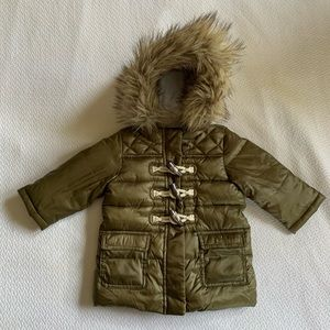 Baby Gap Puffer Jacket with Hood, Size 12 Months.